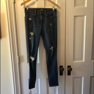 Distressed jeans from hollister